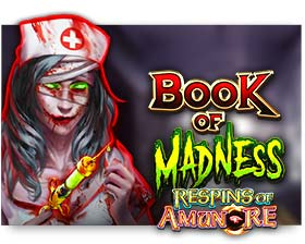 Gamomat Book of Madness respins of Amun-Re