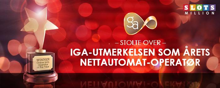 Vi er kåret til årets automatoperatør på nettet av IGA!