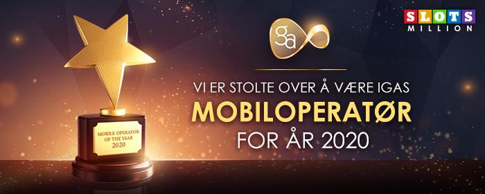 SlotsMillion ble Kåret til IGAS Mobiloperatør for år 2020