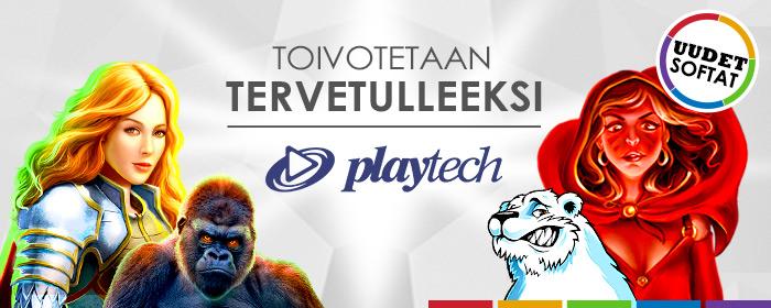 Toivotamme Playtechin ilolla tervetulleeksi!