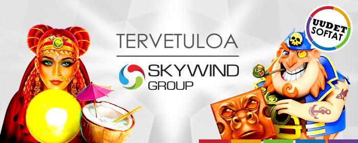 Skywindin pelit ovat laskeutuneet SlotsMillionille