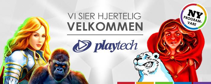 Vi er glade for å ha dere med, Playtech!