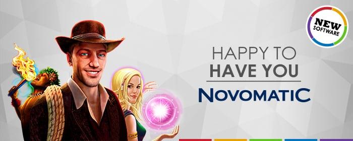 We have Novomatic!