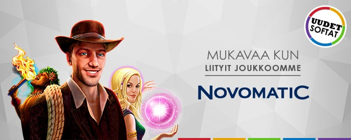 Meiltä löytyy Novomatic!