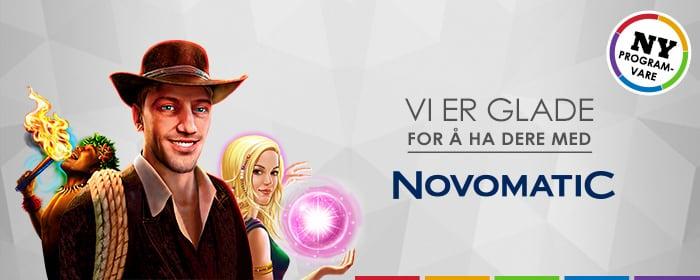 Vi har Novomatic!